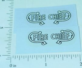Nylint Ford Bronco Fire Chief Vehicle Stickers