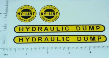 Nylint Hydraulic Dump Construction Toy Stickers Main Image