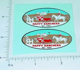 Nylint Happy Ranchers Farm Stake Truck Stickers
