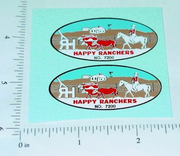 Nylint Happy Ranchers Farm Stake Truck Stickers Main Image