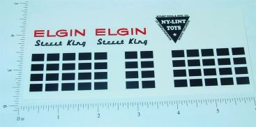 Nylint Elgin Street Sweeper Sticker Set Main Image