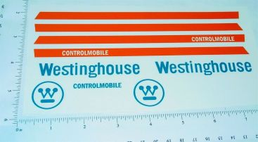 Nylint Westinghouse Econoline Van Sticker Set Main Image
