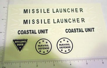 Nylint Missile Launcher Vehicle Sticker Set Main Image