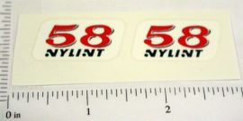Nylint Hot Rod #58 Replacement Stickers