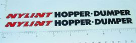 Nylint Hopper Dumper Trailer Sticker Set