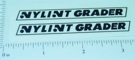 Nylint Road Grader Replacement Sticker Set