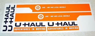 Nylint U-Haul Over Cab Moving Van Stickers Main Image