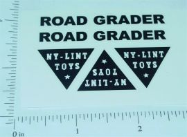 Nylint Road Grader Construction Toy Stickers