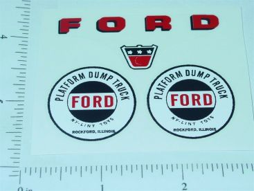 Nylint Ford Platform Dump Truck Sticker Set Main Image