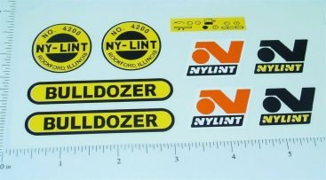 Nylint Bulldozer Construction Toy Stickers Main Image