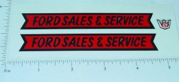Nylint Ford Sales & Service Pickup Sticker Set Main Image