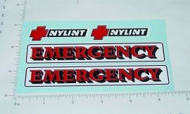 Nylint Emergency Rescue Squad Truck Sticker Set