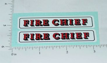 Nylint Fire Chief Chevy Blazer Toy Stickers Main Image