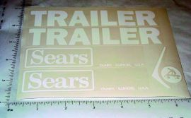 Sears Pedal Tractor Trailer Sticker Set