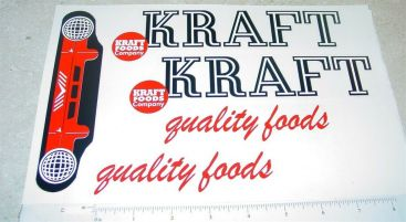 Roberts Kraft Foods Van Sticker Set Main Image