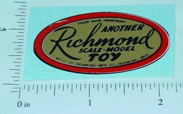 Richmond Toys Oval Logo Hood Sticker Main Image