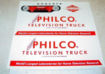 Roberts Philco TV Van Sticker Set Main Image