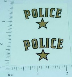 Saunders Police Car Replacement Sticker Set