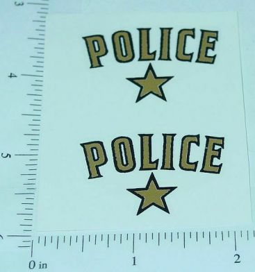 Saunders Police Car Replacement Sticker Set Main Image