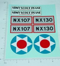 Steelcraft Army Scout Plane Sticker Set