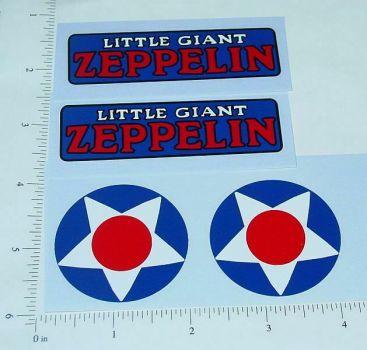 Steelcraft Little Giant Zeppelin Sticker Set Main Image