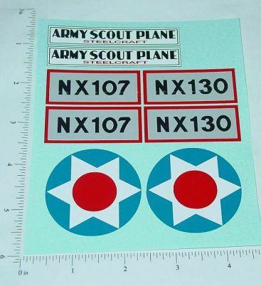 Steelcraft Army Scout Plane Sticker Set Main Image