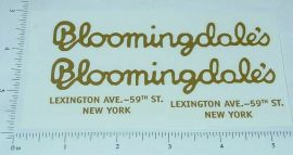 Steelcraft Bloomingdale's Van Sticker Set
