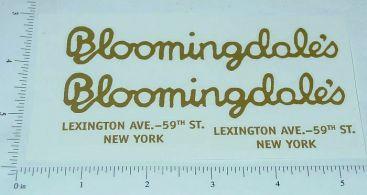 Steelcraft Bloomingdale's Van Sticker Set Main Image