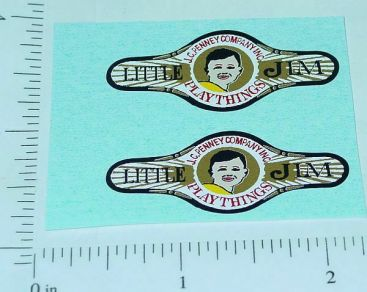 Steelcraft Little Jim/JC Penney Logo Stickers Main Image