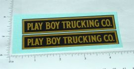 Steelcraft Playboy Trucking Co. Stickers