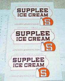 Steelcraft Supplee Ice Cream  Truck Stickers