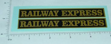 Steelcraft Railway Express Truck Stickers Main Image