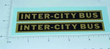 Steelcraft Large Inter City Bus Stickers Main Image