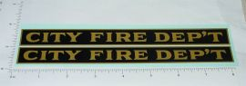 Steelcraft Large City Fire Department Truck Sticker Set