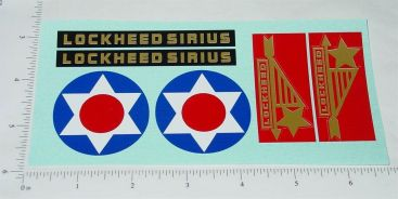 Steelcraft Lockheed Sirius Airplane Replacement Sticker Set Main Image