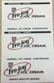 Steelcraft Fro Joy Ice Cream Van Truck Replacement Sticker Set