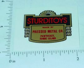 Sturditoys Floor Plate Replacement Sticker