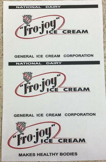 Steelcraft Fro Joy Ice Cream Van Truck Replacement Sticker Set Main Image