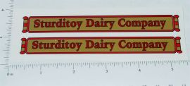 Sturditoys Dairy Transport Truck Stickers
