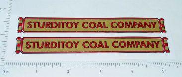 Sturditoys Coal Company Truck Stickers Main Image