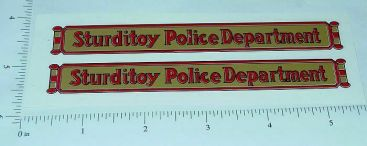 Sturditoys Police Patrol Truck Stickers Main Image