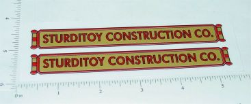 Sturditoys Construction Company Truck Stickers Main Image
