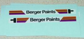 Matchbox #17E Berger Paints Bus Stickers