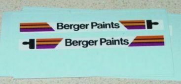 Matchbox #17E Berger Paints Bus Stickers Main Image
