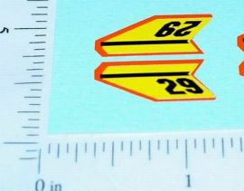 Superfast Matchbox #29 Racing Mini Sticker