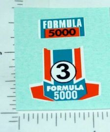 Superfast Matchbox #36 Formula 500 Sticker Set