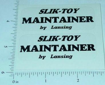 Slik Toy Road Maintainer Grader Sticker Set Main Image