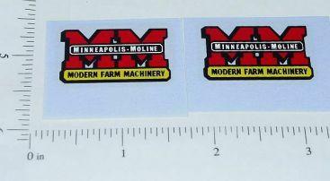 Slik Toy Minneapolis Moline Implement Logo Stickers Main Image