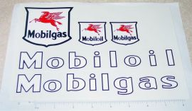 Mobil Oil/Gas Semi Truck & Trailer Stickers