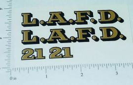 Smith Miller LAFD Fire Truck Sticker Set